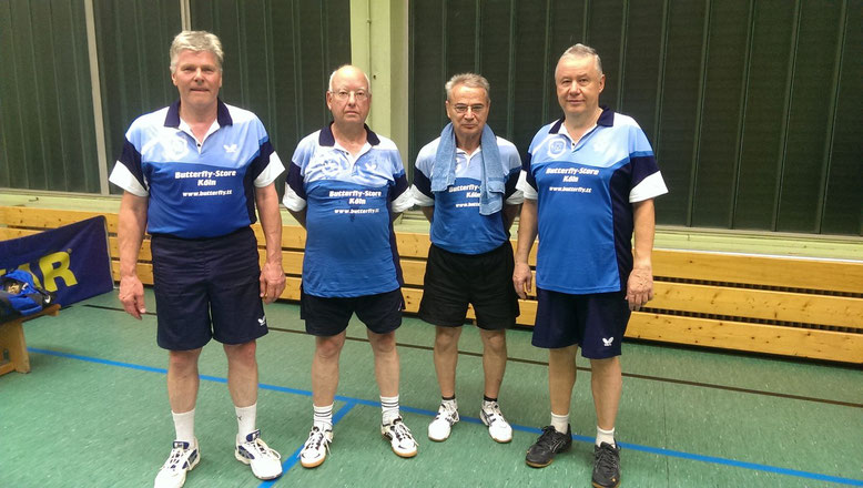 v.l.n.r.: Karl-Hans Riehm, Edgar Thielen, Bernd Dumke, Werner Jullien