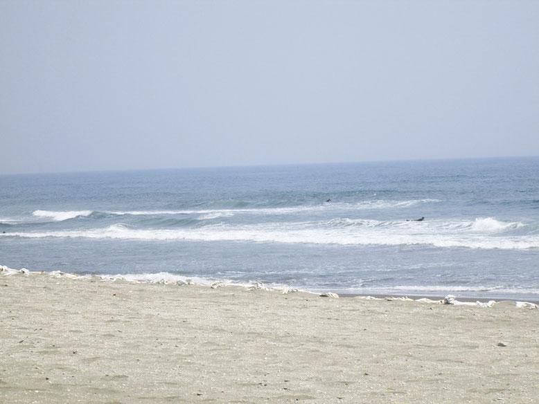 白子町に面する九十九里浜