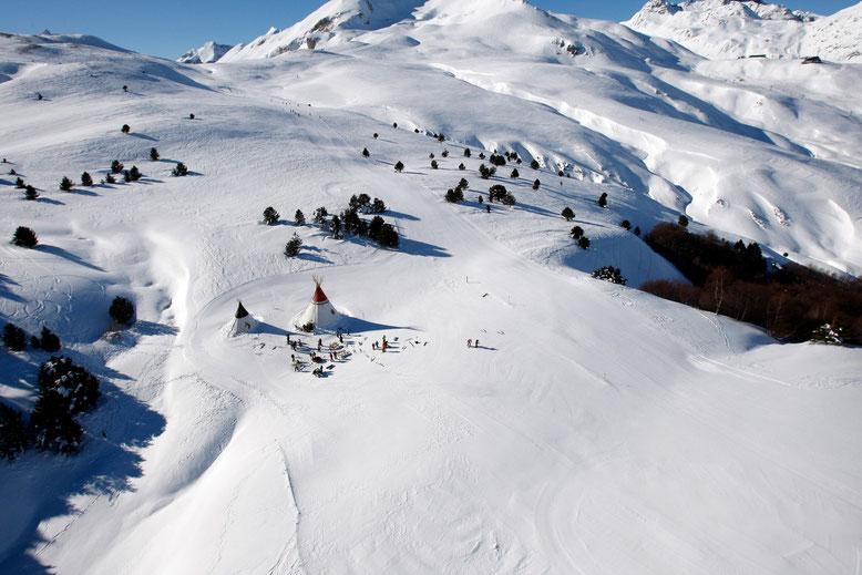 Vista aérea poblado Indio