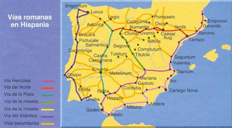 Vías Romanas en Hispania