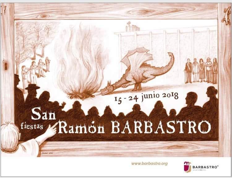 Cartel Fiestas San Ramón Barbastro 2017
