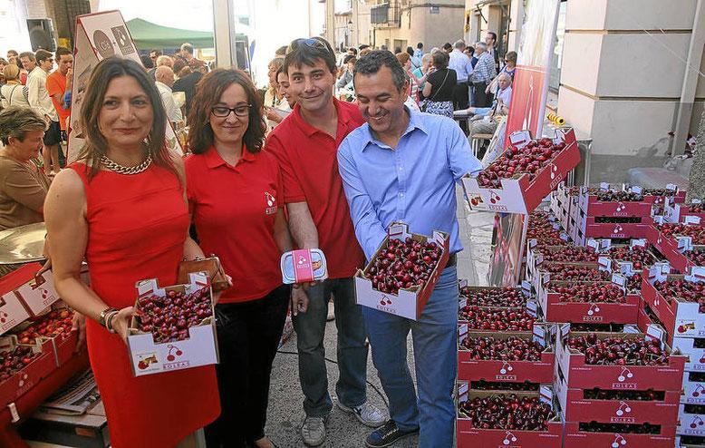 Feria de la Cereza en Bolea, Huesca.