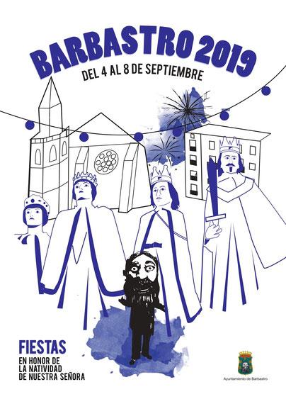 cartel fiestas barbastro 2017