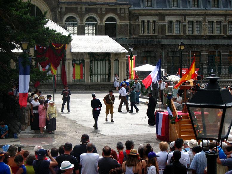 Actos recreación inauguración Estación Ferrocarril Canfranc.