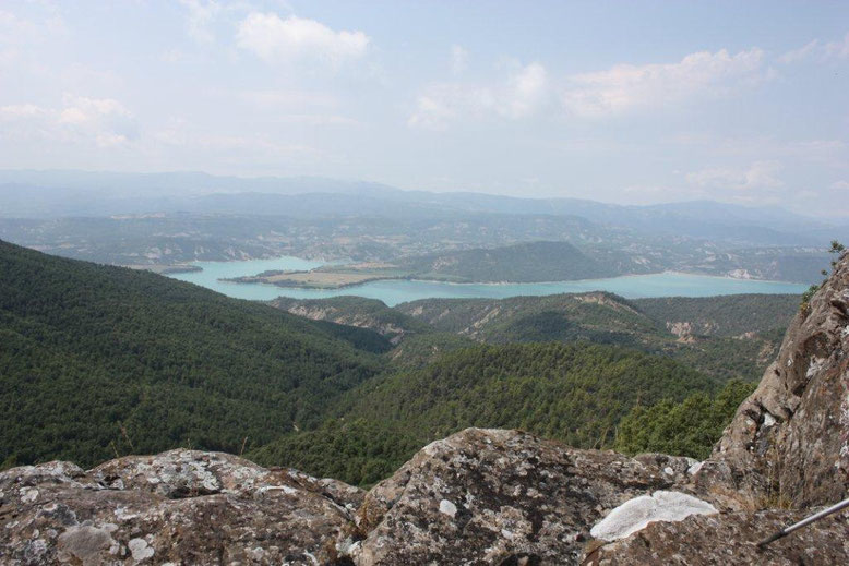 vista panorámica desde el Tozal de Muro, pantano de Mediano .