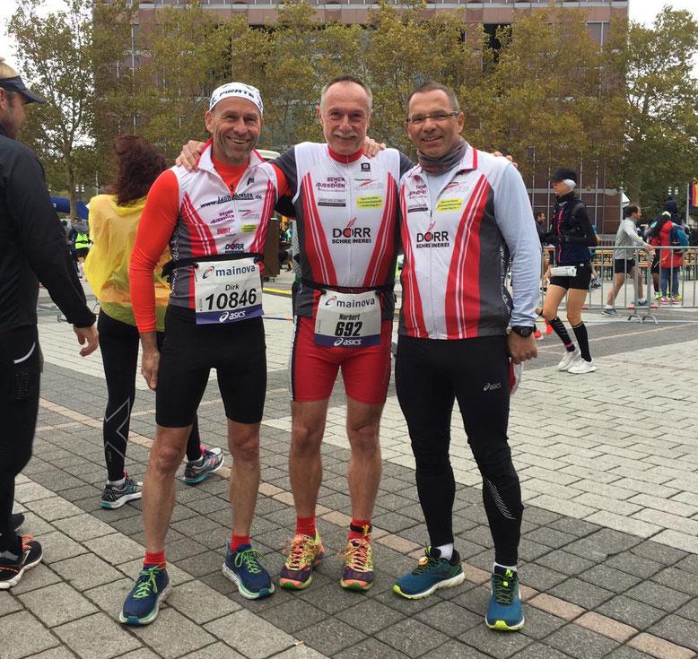 Dirk, Norbert und Herger vor dem Start