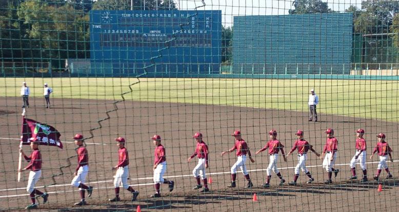第16回 天下一品旗争奪少年野球大会 開会式(2016.10.16 太陽が丘第1野球場)