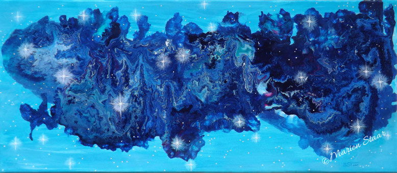 Galaxie, Acryl auf Leinwand, 70 x 30 cm