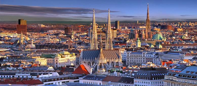 Blick über Wien mit Innenstadt © Österreich Werbung / Silver