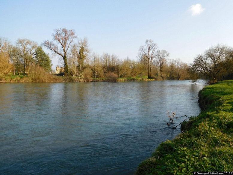 Adour Fleuve Rivière-Basse Cahuzac sur l'Adour
