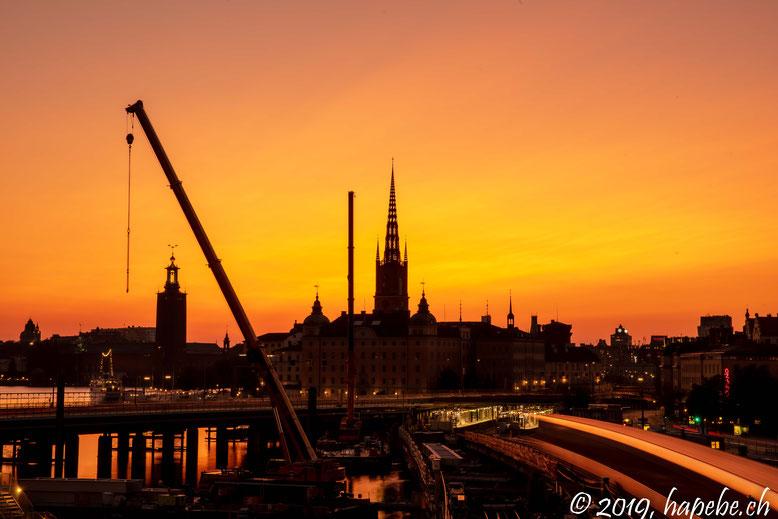 Der Himmel Stockholms brennt