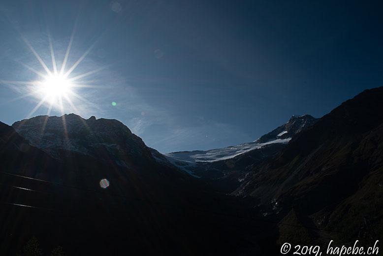 Blick von der Alp Grüm (Südseite Bernina)