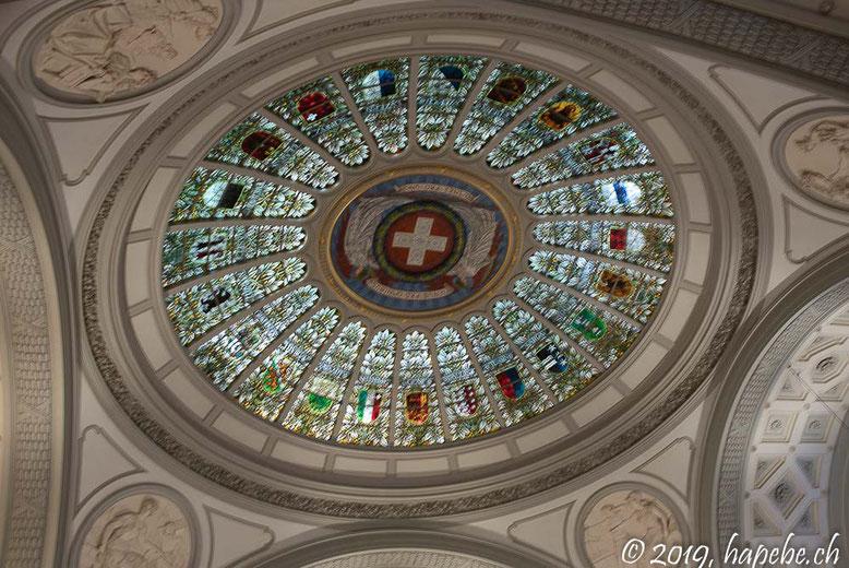 Unter der Kuppel des Bundeshauses.
