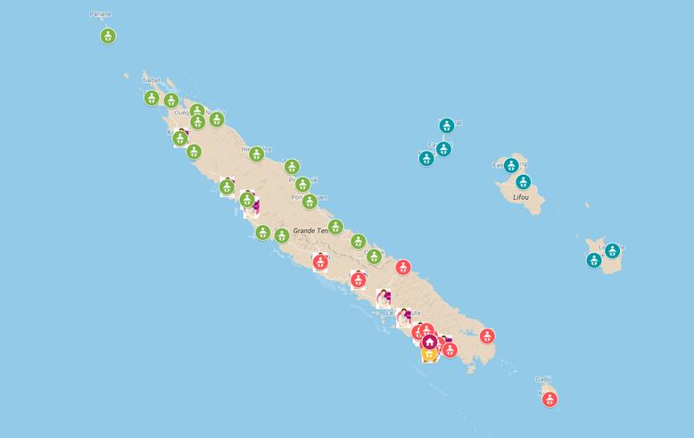 Réseau Périnatal de Nouvelle-Calédonie - Carte professionnels périnatalité