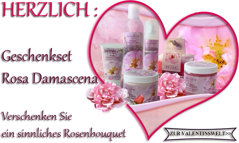 myRefan Valentinstag Geschenkset Rosa Damascena