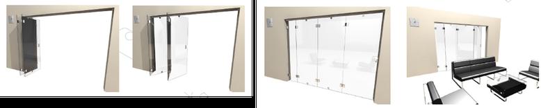 Sistemas para puertas corredizas plegadizas herrajes for Riel para puerta corrediza