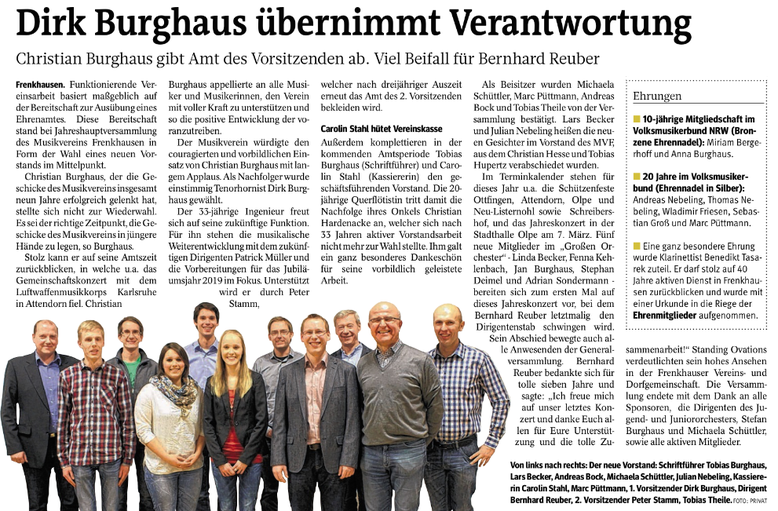 Westfalenpost, 10. Februar 2015