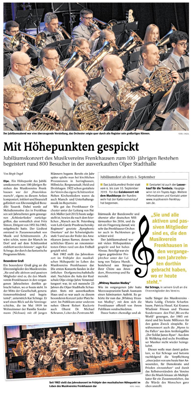 Westfalenpost, 25. März 2019