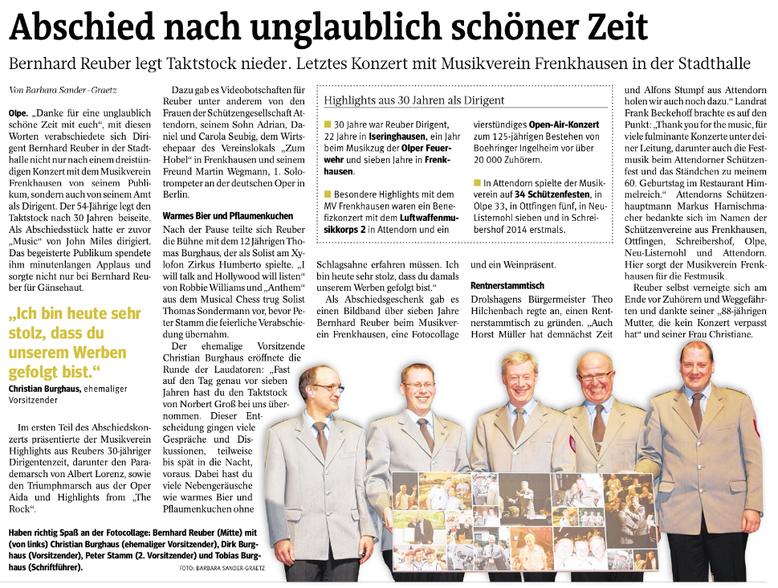Westfalenpost, 10. März 2015