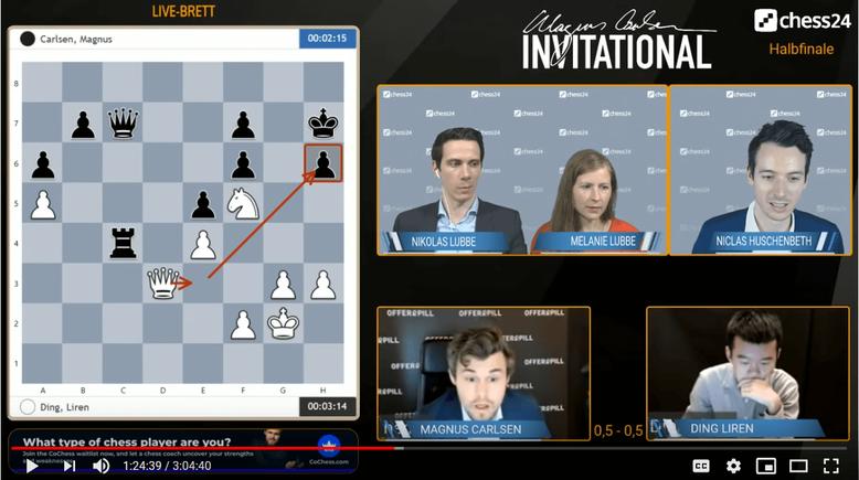 Magnus realisiert seinen Einsteller in Partie 2, Magnus Carlsen Invitational