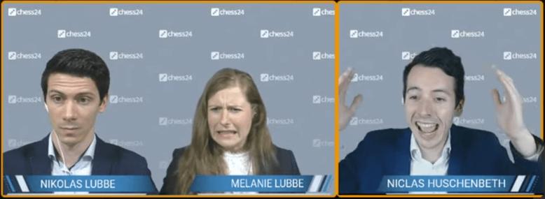Kommentatoren-Reaktionen auf 40.Td8 von MVL gegen Nakamura