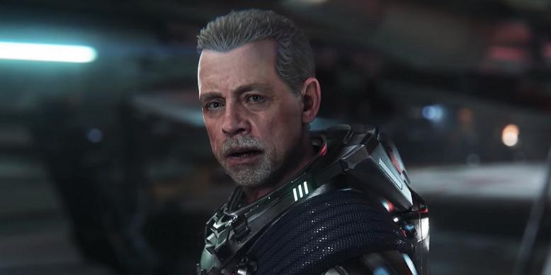 Mark Hamill zeigt sich in virtueller Form innerhalb eines neuen Gameplay-Videos zu Squadron 42, der Kampagne der Weltraumsimulation Star Citizen. Bilderquelle: Cloud Imperium Games