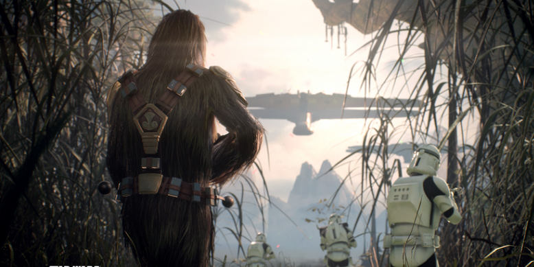 Chewbacca zeigt im neuen Gameplay-Video zu Star Wars Battlefront 2, was er alles drauf hat. Bilderquelle: Electronic Arts