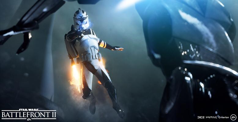 Der neue Vorbesteller-Trailer zu Star Wars Battlefront 2 stellt uns die Sonderboni des Shooters vor. Bilderquelle: EA