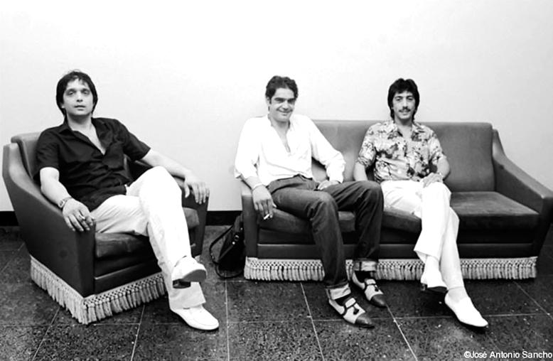 Julio, Jero y Emilio en Montjüic verano 83  foto de Jose A. Sancho