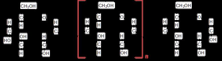 Strukturformel eines Stärkemoleküls.