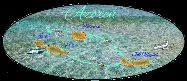 Azoren Inselhopping, Reisebericht