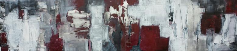 Schattenspiel  160 x 50cm  Acryl auf Leinwand  -verkauft-