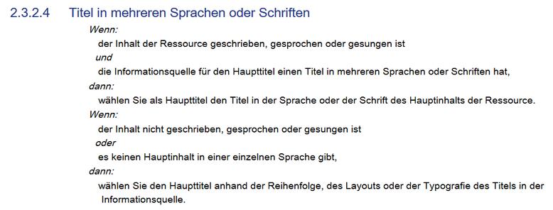 Screenshot mit dem Text von RDA 2.3.2.4