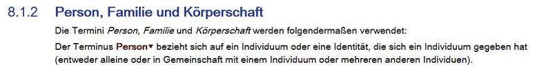 """Screenshot aus dem RDA Toolkit: """"Der Terminus Person bezieht sich auf ein Individuum oder eine Identität, die sich ein Individuum gegeben hat (entweder alleine oder in Gemeinschaft mit einem Individuum oder mehreren anderen)."""""""