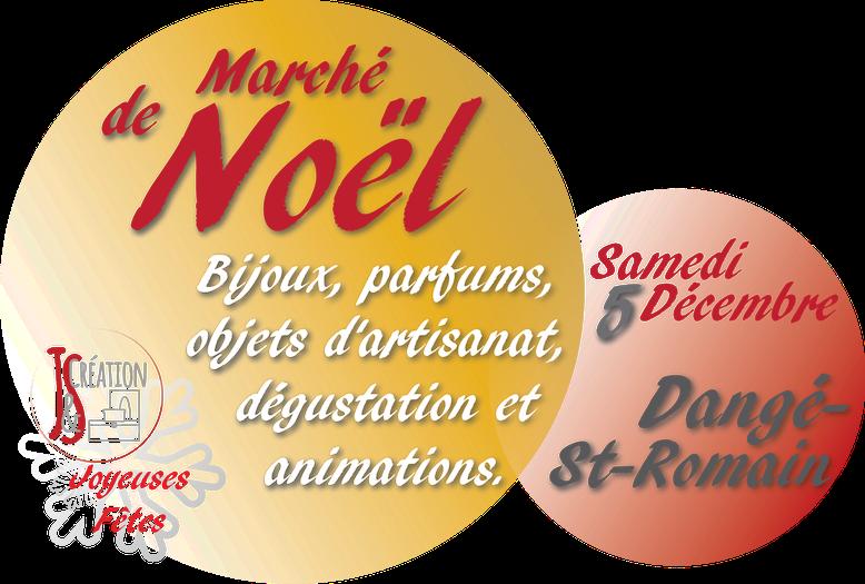 Marché de Noël Dangé Saint Romain Samedi 5 Décembre 2015 avec J&S Création