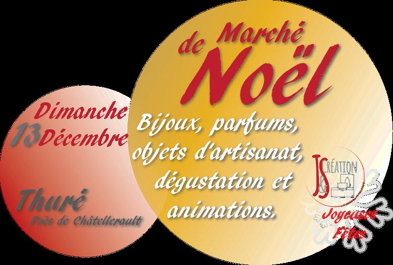 Marché de Noël de Thuré le Dimanche 13 Décembre 2015 avec J&S Création