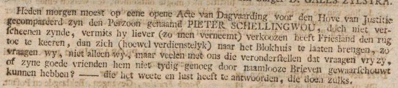 Friesche courant gelykheid, vryheid en broederschap 01-10-1796