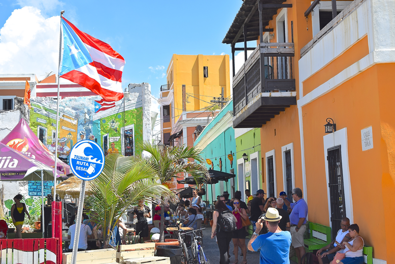 Is it Worth to Go to Puerto Rico - Lively streets of Old San Juan