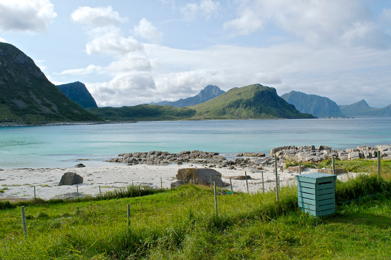 From Tromso to the Lofoten Islands - Haukland Beach