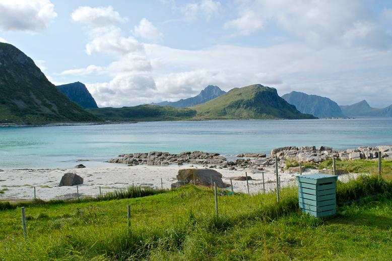 From Tromso to the Lofoten Islands - Haukland Beach