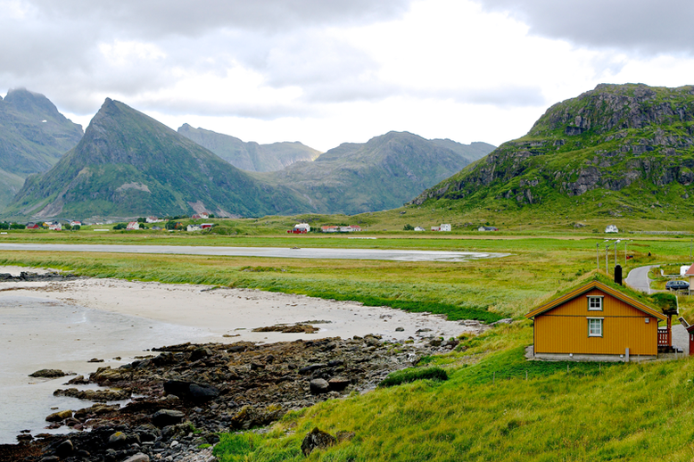 From Tromso to the Lofoten Islands - Fredvang Beach