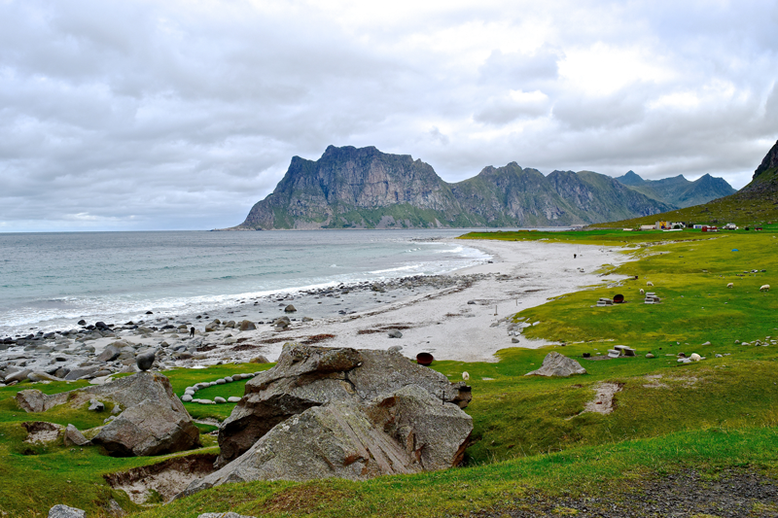 From Tromso to the Lofoten Islands - Uttakleiv Beach