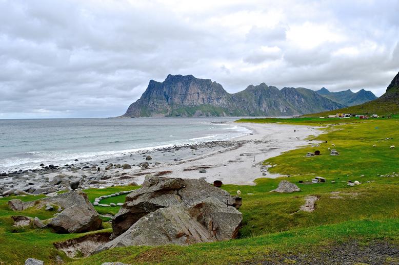 From Tromso to the Lofoten Islands - Uttakleiv Beach