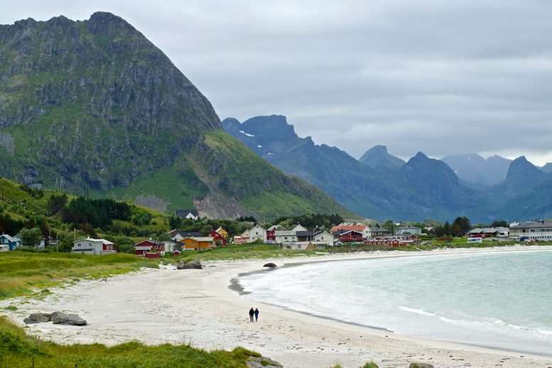 From Tromso to the Lofoten Islands - Ramberg Beach