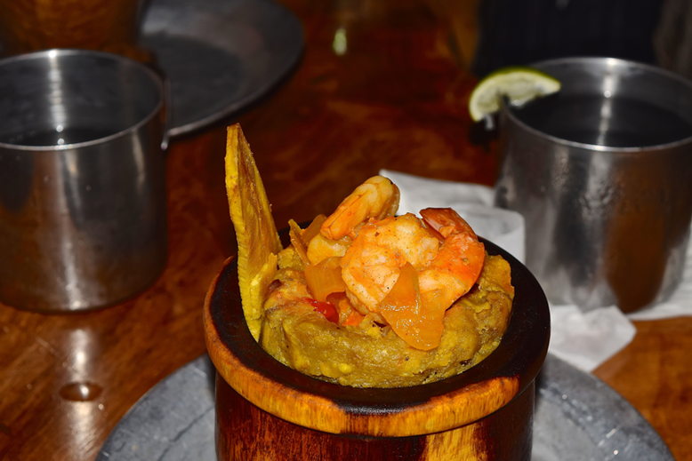 Is it Worth to Go to Puerto Rico - Mofongo with Shrimps