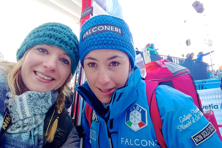 Ski World Cup in St. Moritz, Switzerland - With Sofia Goggia :)