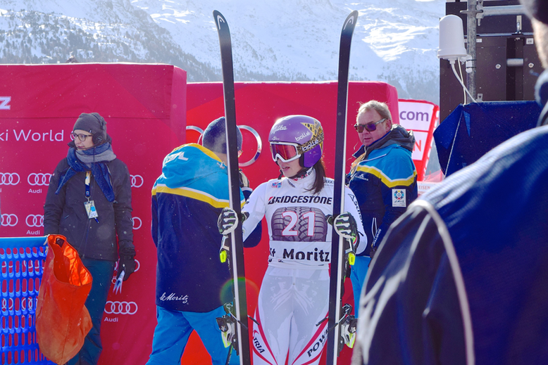 Ski World Cup in St. Moritz, Switzerland - Skier Anna Veith