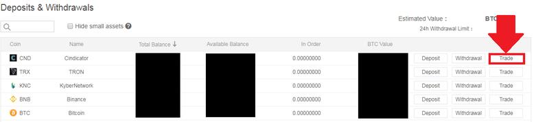 バイナンスコインを売る