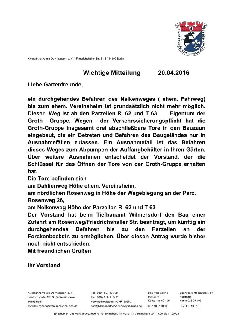 Tagebuch - Kleingärtnerverein Oeynhausen