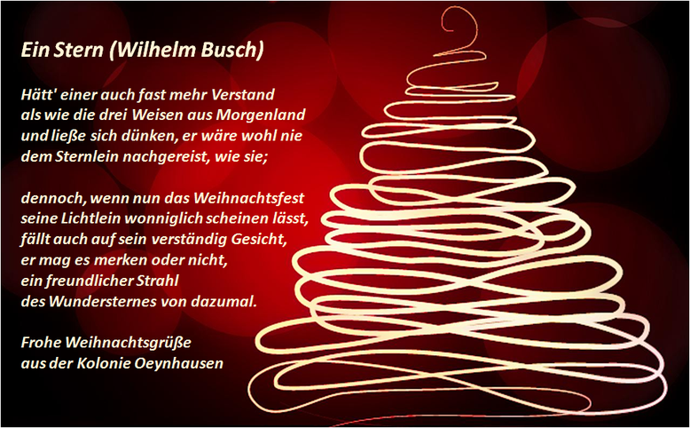 Weihnachtswünsche Mit Dankeschön.Frohe Weihnachten Kleingärtnerverein Oeynhausen